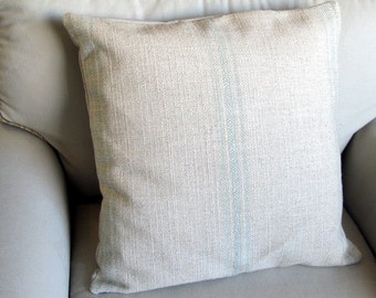 French Laundry  SPA Stripes 20x20 pillow With INSERT
