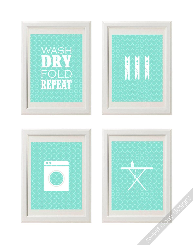 Items similar to printable laundry room wall art 4 laundry for Laundry room wall art