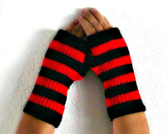 Knit Fingerless Mittens Red Gloves Winter Accessories Cozy Gloves Warm Gloves Womens Gloves Winter Fashion Fall Armwarmers