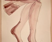 Lingerie/ Old Fashion Hose 2 by Gretchen Kelly