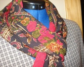 Vintage black & red paisley scarf
