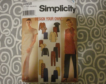 Simplicity 9868 Asian style separates