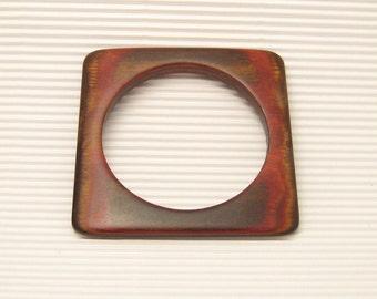 Square Wood Bangle Bracelet Reds B5414