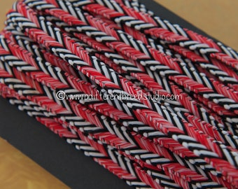 3 yards Vintage Trim  -Mod Braid Upholstery Sewing New Old Stock Woven Chevron