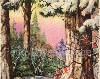 Vintage Christmas Greeting Card Images on CD Vol 9 Clip Art