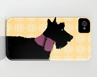 Scottish Terrier Dog on Phone Case - scottie, black, pet lover, iPhone 6S, iPhone 6 Plus, , Samsung Galaxy S6