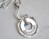 Home Birth Sterling Silver Necklace