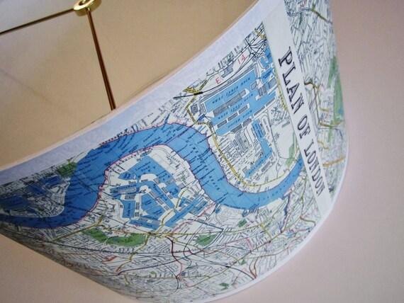 London map lamp shade