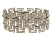 Art Deco Vintage Bracelet 1920s Book Piece Designer Art Deco Jewelry Wedding Bracelet