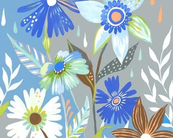 Rain Garden Print | Floral Painting | Colorful Wall Art | Katie Daisy | 8x10 | 11x14