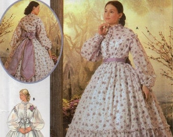 Simplicity 5442 Fashion Historian Misses Civil War Costume Dress Pattern Womens Sewing Size 14 16 18 20 Bust 36 38 40 42 Or 6 8 10 12 UNCUT