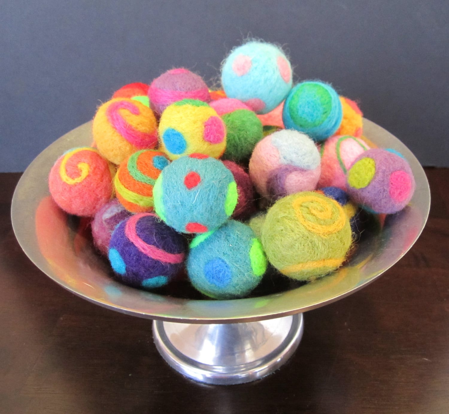 Cat Toys Balls : Needle felted cat toy ball one