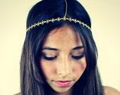 CHAIN HEADPIECE- chain headdress head chain