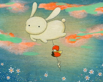 Floating Giant Bunny