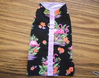 Handmade Dog Coat Jacket Extra Small Flamingo Purple Pink Black
