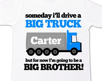 Big brother to be BIG truck pregnancy announcement Tshirt