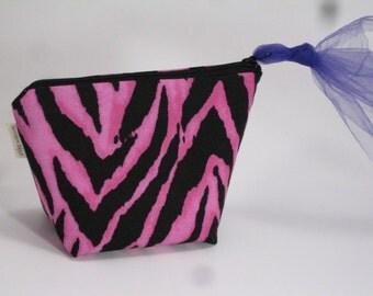 Big Bottom Zip Bag - Zip Pouch - Hot Pink Pouch - Big Bottom Bag