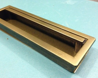 1 Recessed Drawer Pull, Mid Century Style Drawer Pull,Cabinet Hardware,Hardware,Flush Mount Hardware,BackingPlate