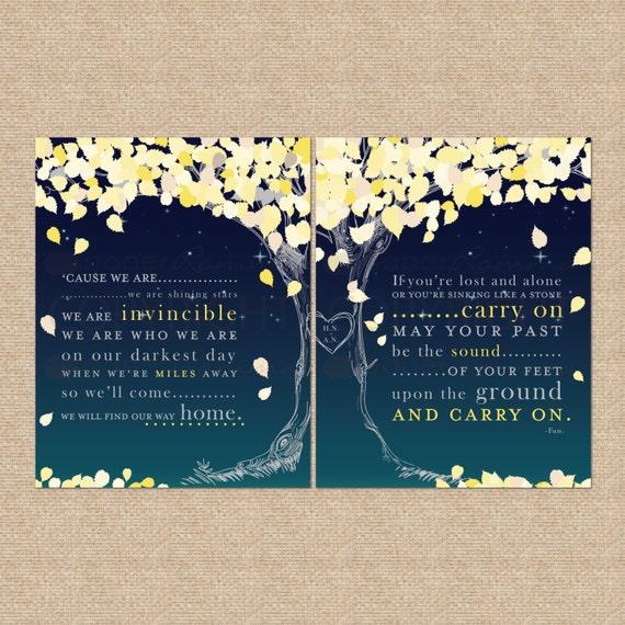 Wedding Song Lyrics Print A Personalized Keepsake // Gift