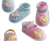Delilah Pearl Collection Baby Shoes Crochet pdf Pattern
