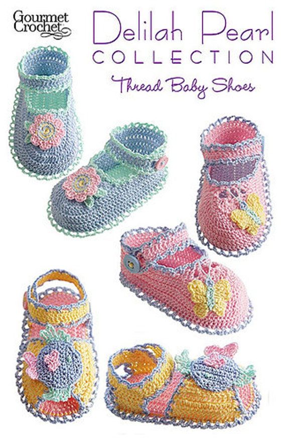 Crochet Pearl Baby Shoes