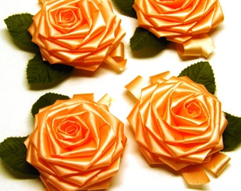 Peach Rosettes with leaves
