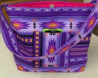 Southwest Navajo Indian Native American Tribal  southwestern Handbag Purse Coin Change purse and Key Chain