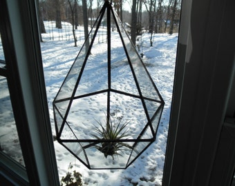 Hanging Glass Terrarium - Pentagon