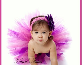 2pc Cherry Blossom, Tutu Set,Baby Shower, 1st Photo Shoot,Gift  in Size Nb - 6mos