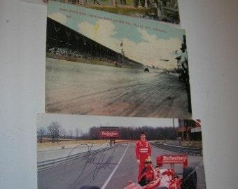 3 Vintage Indy 500 Postcards Postcards