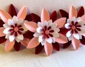 Sweet Valentine's Day Embellishments - Pink and Red Flowers -