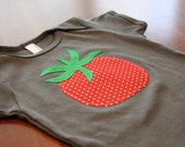 Farmers Market Vegetables Tomato Asphalt Grey Onesie - READY TO SHIP