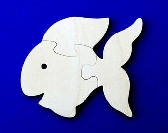 Goldfish Party Favors - Package of 10 Wood Toy Puzzles - Great for a Toddler or Childrens Birthday Party
