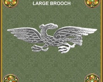 Zoomorphic Large Eagle Brooch - Sterling Silver