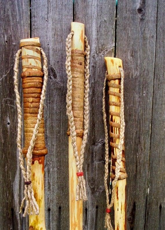 Natural Finish Walking Stick Maine Ash Wood Hiking Staff With