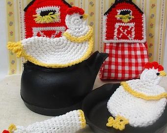 Farmyard Kitchen Set Crochet Pattern PDF