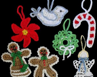 Christmas Ornaments Set 1 Crochet Pattern PDF
