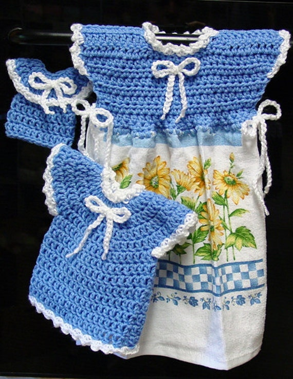 Oven Door Dress Potholder And Fridgie Crochet Patterns Pdf