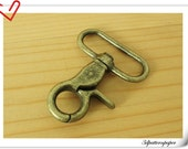 6 pieces of 1.5 inch ( 38mm) Matt anti brass Swivel Hook/  Trigger Snaps/ Lobster Hooks For Lanyard or Bag Straps P72