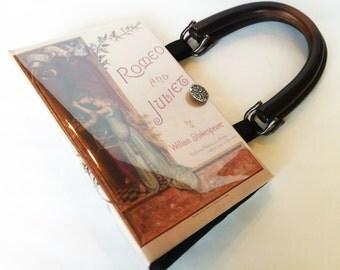 Shakespeare Romeo and Juliet Book Purse - William Shakespeare Book Bag - Book Cover Handbag