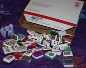50 Mahjong Tiles for Crafts, Altered Art