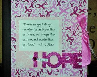Altered Composition Notebook  Breast Cancer Survivor Awareness in PINK