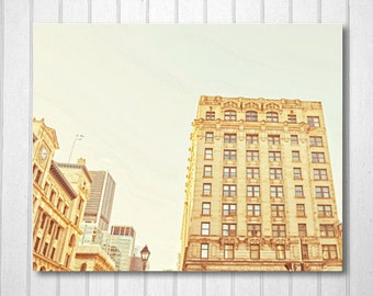 BUY 2 GET 1 FREE Old Montreal Photography, Architecture, Golden, Wall Decor, Montreal Art, Fpoe, Home Decor, Magical Decor, Landscape Photo