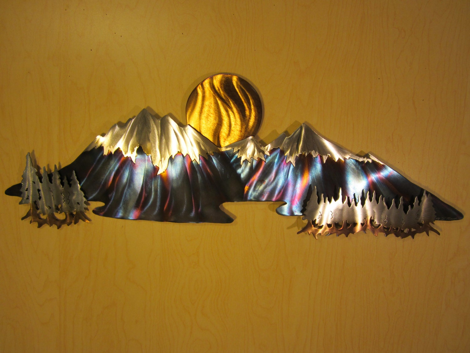 Metal Wall Art Mountains - Elitflat