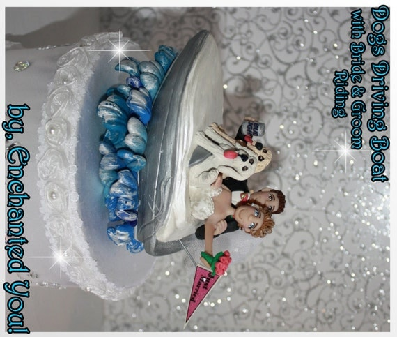 boat wedding cake topper items similar to wedding cake topper amp groom in a 12065