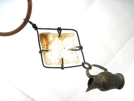 The Names of Water. Rustic Primitive Choker with Mica and Pitcher.