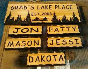 9x30 and 5- 4x12 name signs