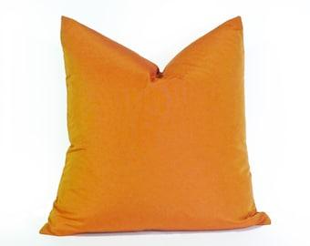 Orange Decorative Pillows, Solid Orange Pillows, Orange Toss Cushion Covers, Iridescent Orange, Lumbar 12x18, 16x16, 18x18, 20x20