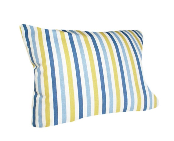 Yellow Striped Throw Pillows : SALE Blue Yellow Stripes Pillow Accent Throw Pillows Lumbar
