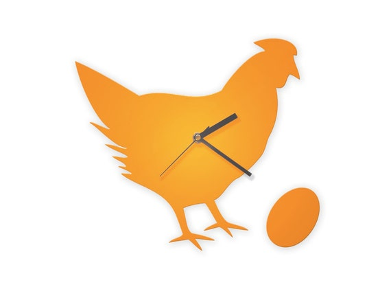 Chicken and Egg Wall Clock - The philosopher's clock